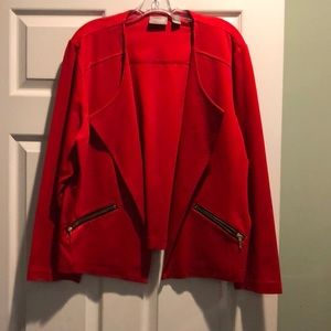 Gorgeous, red, Chicos size 3(16), jacket!